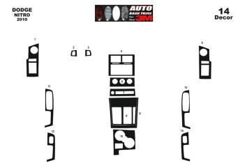 Seat Leon 1P 06.05 - 09.09 Mittelkonsole Armaturendekor Cockpit Dekor 8 -Teile