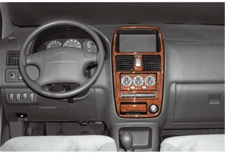 Seat Ibiza - Cordoba 08.99 - 03.02 Interior Dashboard Trim Kit Dashtrim accessories, wood grain, camouflage, carbon fiber, alumi