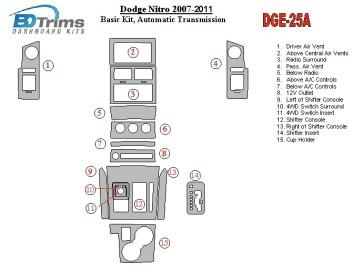 Seat Ibiza - Cordoba 08.99 - 03.02 Mittelkonsole Armaturendekor Cockpit Dekor 9 -Teile