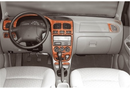 Seat Alhambra 07.00 - 12.09 Interior Dashboard Trim Kit Dashtrim accessories, wood grain, camouflage, carbon fiber, aluminum das