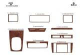 Volvo S 90 - V 90 12.96 - 03.98 Mittelkonsole Armaturendekor Cockpit Dekor 17 -Teile