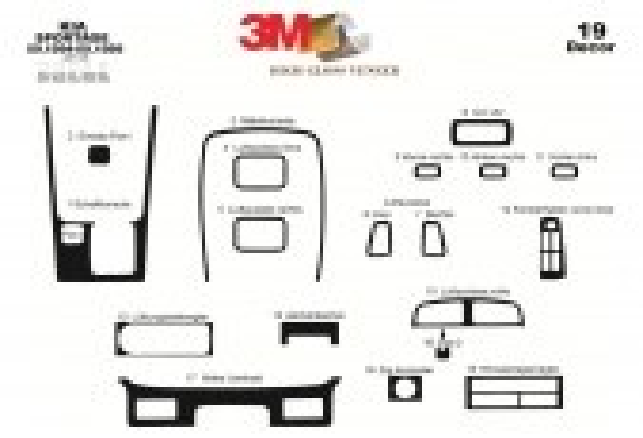 Kia Sportage 09.94-09.99 3M 3D Car Tuning Interior Tuning Interior Customisation UK Right Hand Drive Australia Dashboard Trim Ki