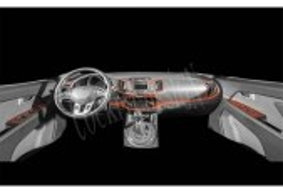 Kia Sportage 01.2011 3M 3D Car Tuning Interior Tuning Interior Customisation UK Right Hand Drive Australia Dashboard Trim Kit Da