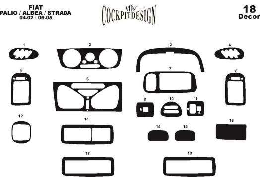 Lada Jiguli 2107 1980 3M 3D Car Tuning Interior Tuning Interior Customisation UK Right Hand Drive Australia Dashboard Trim Kit D