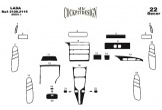 Peugeot 405 09.92 - 06.95 Mittelkonsole Armaturendekor Cockpit Dekor 9 -Teile