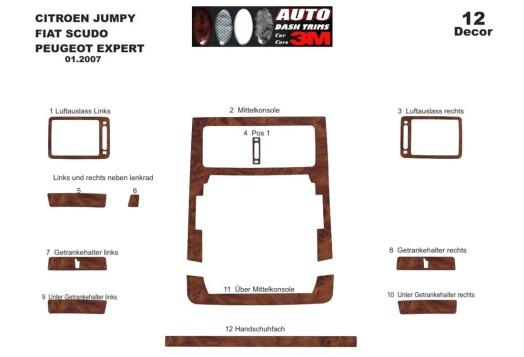 Lancia Phedra 02.2002 3M 3D Car Tuning Interior Tuning Interior Customisation UK Right Hand Drive Australia Dashboard Trim Kit D