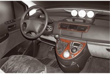 Citroen C8 02.2002 Interior Dashboard Trim Kit Dashtrim accessories, wood grain, camouflage, carbon fiber, aluminum dash kits 4-