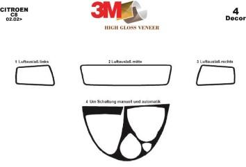 Citroen Evasion 09.94 - 10.02 Interior Dashboard Trim Kit Dashtrim accessories, wood grain, camouflage, carbon fiber, aluminum d