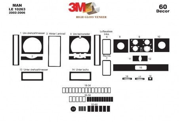 Citroen Saxo 04.96 - 10.99 Mittelkonsole Armaturendekor Cockpit Dekor 8 -Teile