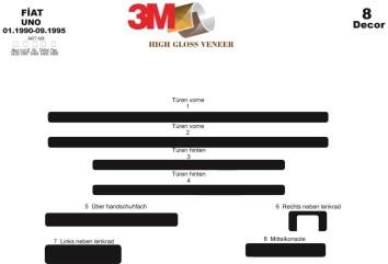 Citroen Xantia II 01.1998 Interior Dashboard Trim Kit Dashtrim accessories, wood grain, camouflage, carbon fiber, aluminum dash