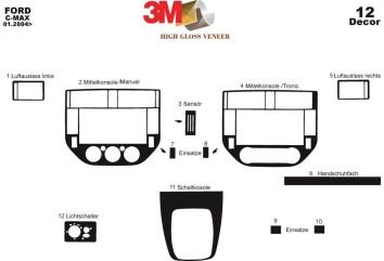 Citroen Xsara II 11.1999 Interior Dashboard Trim Kit Dashtrim accessories, wood grain, camouflage, carbon fiber, aluminum dash k
