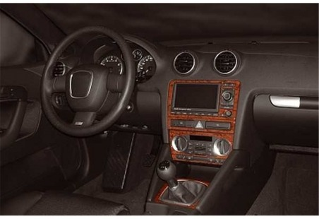 Volvo FH12 FH16 12.93 - 03.02 Interior Dashboard Trim Kit Dashtrim accessories, wood grain, camouflage, carbon fiber, aluminum d