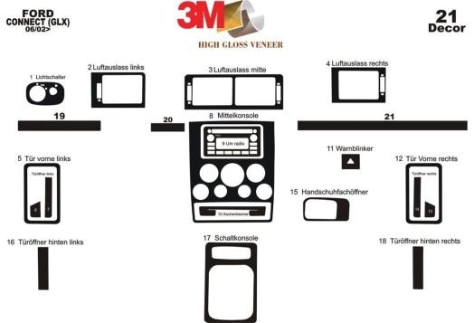 Mazda 323 FS 10.00-05.04 3M 3D Car Tuning Interior Tuning Interior Customisation UK Right Hand Drive Australia Dashboard Trim Ki