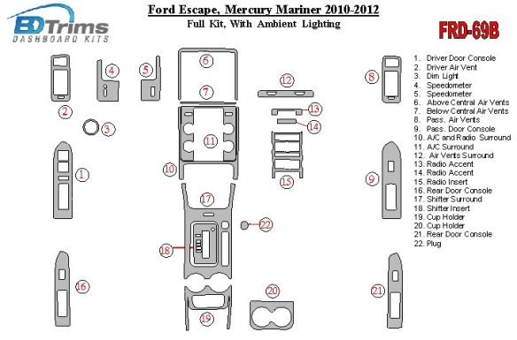 Mazda Mazda 3 06.04-12.09 3M 3D Car Tuning Interior Tuning Interior Customisation UK Right Hand Drive Australia Dashboard Trim K