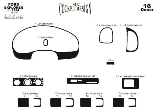 Mazda Premacy 06.99-12.04 3M 3D Car Tuning Interior Tuning Interior Customisation UK Right Hand Drive Australia Dashboard Trim K