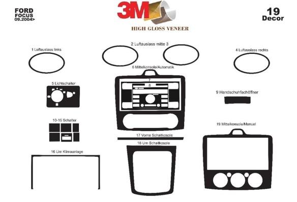 Mercedes C-Class W202 06.97-04.00 3M 3D Car Tuning Interior Tuning Interior Customisation UK Right Hand Drive Australia Dashboar