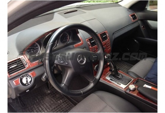 Mercedes C-Class W204 01.2006 3M 3D Car Tuning Interior Tuning Interior Customisation UK Right Hand Drive Australia Dashboard Tr