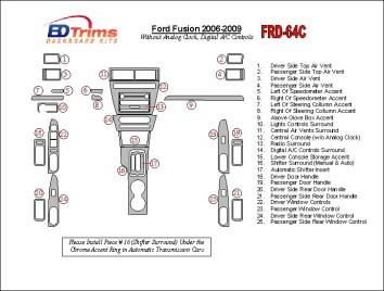 Kia Sorento 07.07 - 12.10 Mittelkonsole Armaturendekor Cockpit Dekor 7 -Teile
