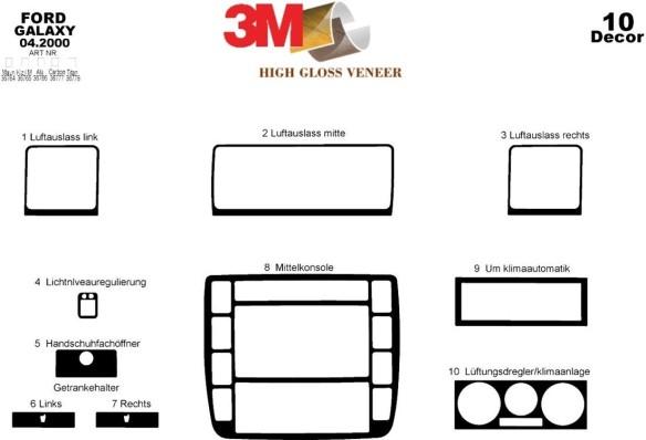 Mercedes Vito W638 02.96-02.99 3M 3D Car Tuning Interior Tuning Interior Customisation UK Right Hand Drive Australia Dashboard T