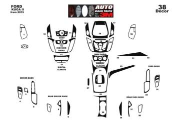 Kia Bongo 05.2009 Mittelkonsole Armaturendekor Cockpit Dekor 7 -Teile