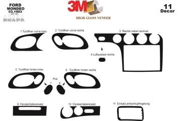 Kia Carnival 04.1999 Interior Dashboard Trim Kit Dashtrim accessories, wood grain, camouflage, carbon fiber, aluminum dash kits