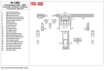 Ford Focus 10.2010 Mittelkonsole Armaturendekor Cockpit Dekor 19 -Teile
