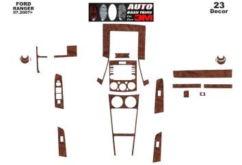 Ford Ranger Full Set 07.06 - 12.10 Interior Dashboard Trim Kit Dashtrim accessories, wood grain, camouflage, carbon fiber, alumi