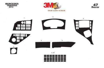 Ford Ranger 07.06 - 12.10 Interior Dashboard Trim Kit Dashtrim accessories, wood grain, camouflage, carbon fiber, aluminum dash