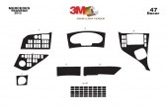 Mercedes Travego 01.2011 3M 3D Car Tuning Interior Tuning Interior Customisation UK Right Hand Drive Australia Dashboard Trim Ki
