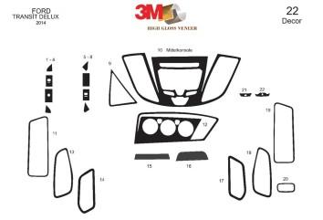 Ford Focus 09.98 - 08.04 Interior Dashboard Trim Kit Dashtrim accessories, wood grain, camouflage, carbon fiber, aluminum dash k