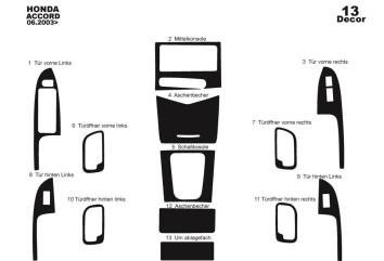 Ford Fiesta 03.02 - 08.05 Interior Dashboard Trim Kit Dashtrim accessories, wood grain, camouflage, carbon fiber, aluminum dash