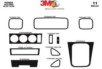 Ford Fiesta 08.99 - 02.02 Mittelkonsole Armaturendekor Cockpit Dekor 13 -Teile