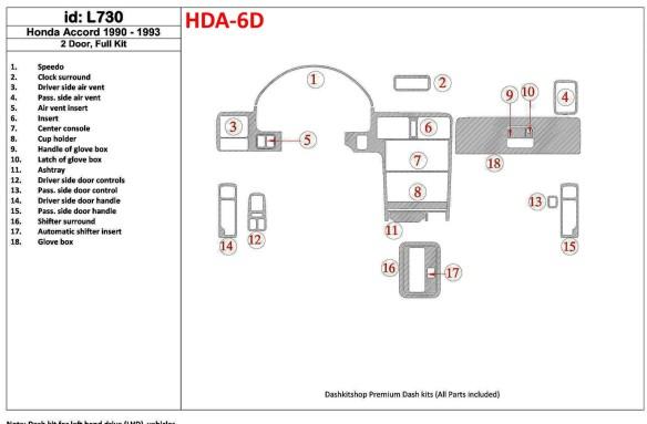 Mitsubishi Galant VII 03.93-12.96 3M 3D Car Tuning Interior Tuning Interior Customisation UK Right Hand Drive Australia Dashboar