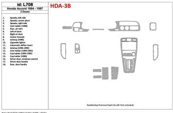 Ford Mondeo 10.96 - 09.00 Interior Dashboard Trim Kit Dashtrim accessories, wood grain, camouflage, carbon fiber, aluminum dash