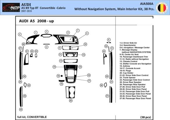 Audi A4 B6 Typ 8E-8H 10.2000 3M 3D Car Tuning Interior Tuning Interior Customisation UK Right Hand Drive Australia Dashboard Tri