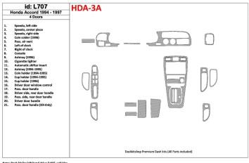 Ford Mondeo 01.08 - 12.11 Interior Dashboard Trim Kit Dashtrim accessories, wood grain, camouflage, carbon fiber, aluminum dash