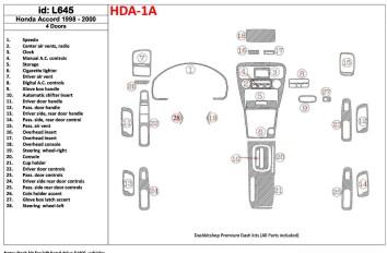 Ford Focus 09.04 - 09.10 Interior Dashboard Trim Kit Dashtrim accessories, wood grain, camouflage, carbon fiber, aluminum dash k