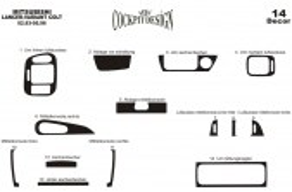 Mitsubishi Colt-Lancer IV 02.92-02.96 3M 3D Car Tuning Interior Tuning Interior Customisation UK Right Hand Drive Australia Dash