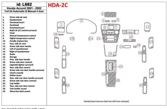 Mitsubishi Spacerunner 08.99-03.04 3M 3D Car Tuning Interior Tuning Interior Customisation UK Right Hand Drive Australia Dashboa