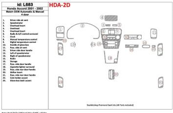 Mercedes G-Class 463 2002-2015 Mittelkonsole Armaturendekor Cockpit Dekor 25 -Teile
