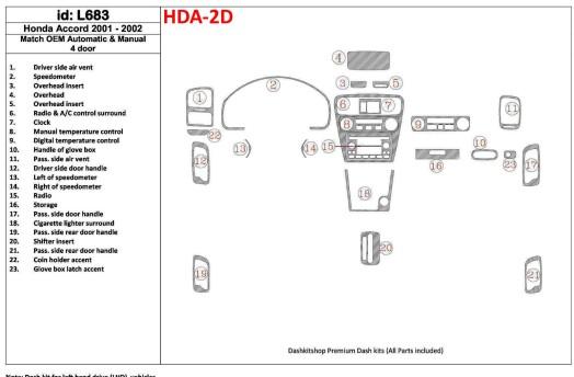Mitsubishi Spacewagon 10.98-03.04 3M 3D Car Tuning Interior Tuning Interior Customisation UK Right Hand Drive Australia Dashboar
