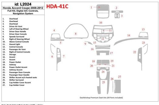 Mitsubishi Safir 01.2011 3M 3D Car Tuning Interior Tuning Interior Customisation UK Right Hand Drive Australia Dashboard Trim Ki