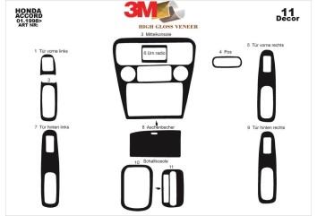 Hyundai Accent Era 01.06 - 12.10 Interior Dashboard Trim Kit Dashtrim accessories, wood grain, camouflage, carbon fiber, alumin