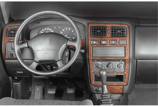 Nissan Almera 09.95-12.99 3M 3D Car Tuning Interior Tuning Interior Customisation UK Right Hand Drive Australia Dashboard Trim K